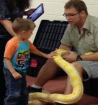 Visit from Little Ray's Reptiles