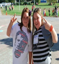 Photo of two girls at Terry Fox run